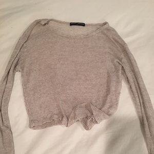 Beige Long Sleeve Light Weight Sweater